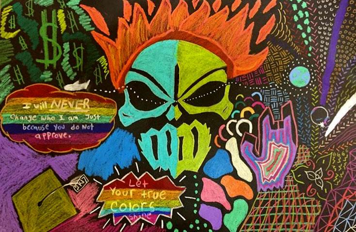 Pastel Drawing by El Haynes High School Student