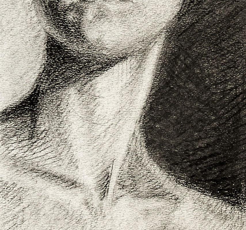 Charcoal Portrait Drawing by Vanessa Landolt