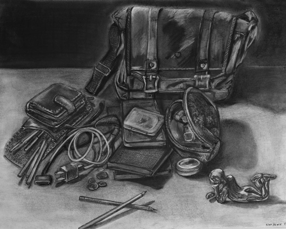 Charcoal Drawing by Tatiana Potts
