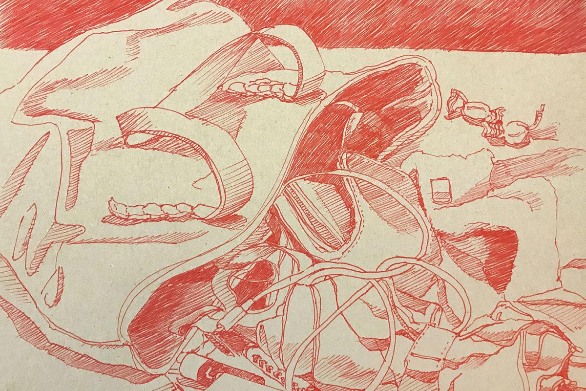 Pen Drawing by Vanessa Landolt