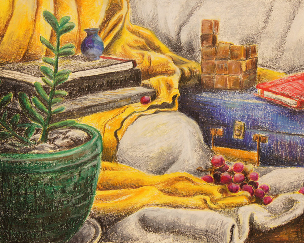 Final Still Life Drawing, Finished