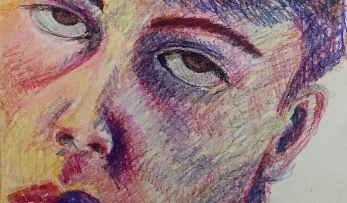 Final Self-Portrait Drawing, in progress