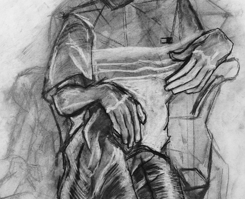 Charcoal Drawing by El Haynes High School Art Student