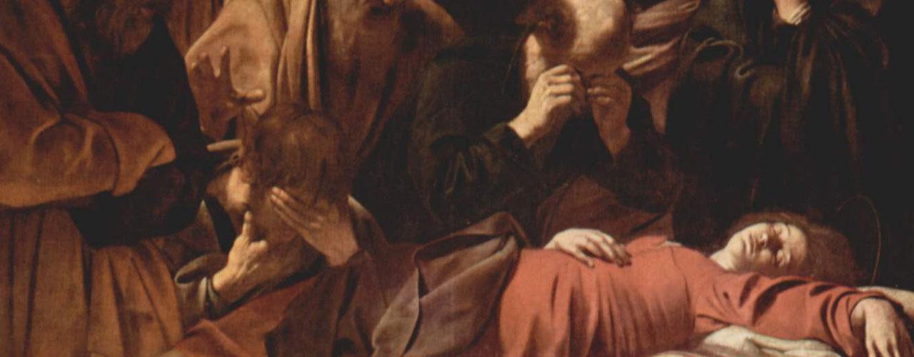 Caravaggio, Death of the Virgin, oil on canvasv