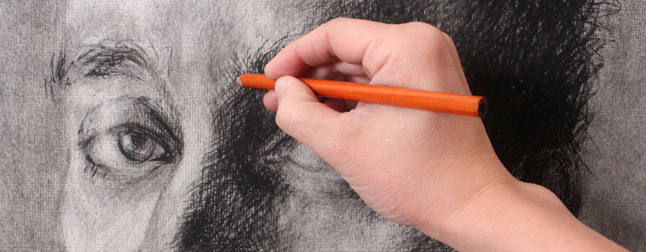 Drawing a Portrait with Charcoal