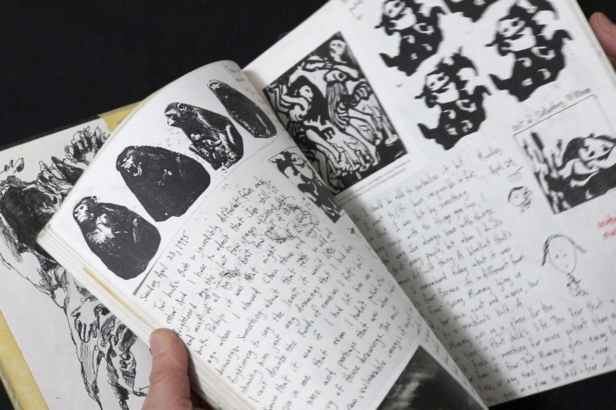 Prof Lieu, art school sketchbook