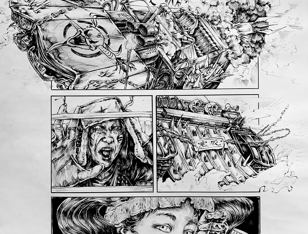 Art School Admissions Portfolio: Comic Page, Pen Drawing