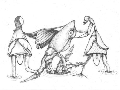 Pencil Drawing by Sidhi Vhisatya