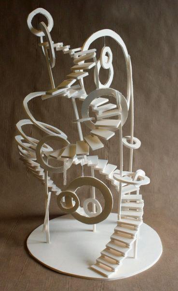 Foam board Staircase Sculpture