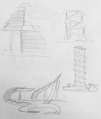 1. Concept Pencil Sketches by Amy Liu