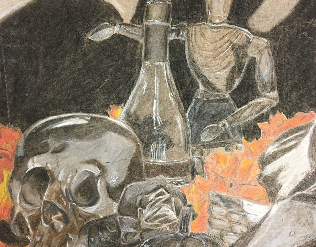 Charcoal Drawing by Baldwin High School Student