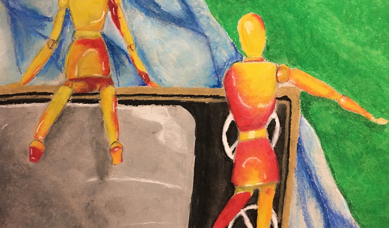 Pastel Drawing by Baldwin High School Student