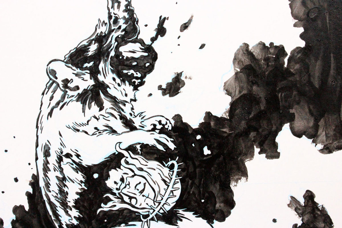 Ink Drawing, Casey Roonan