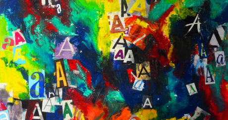 Art Prof Art Dare: Typography & Acrylic Painting
