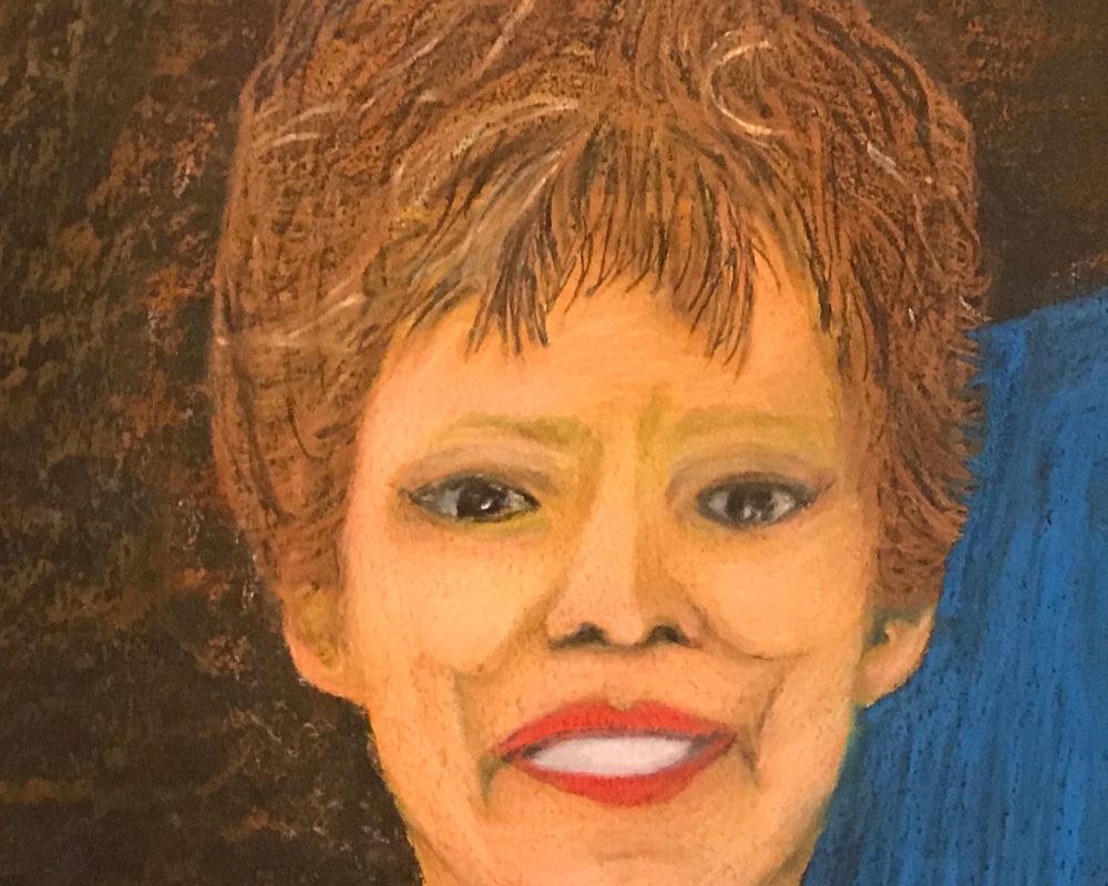"""Mick Hart, """"Me and Mom,"""" crayon"""