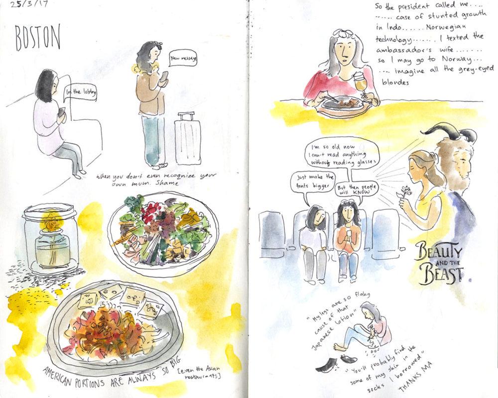Clarisse Angkasa sketchbook