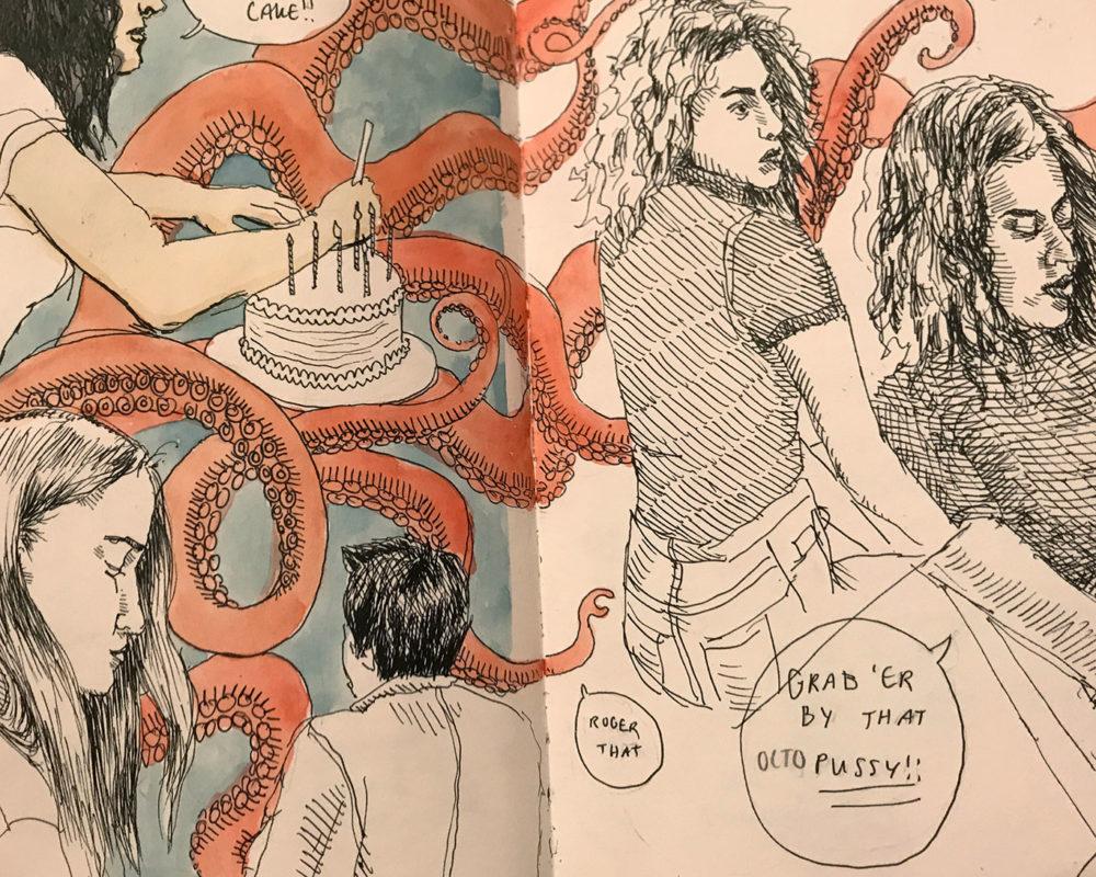 Julie Sharpe, sketchbook