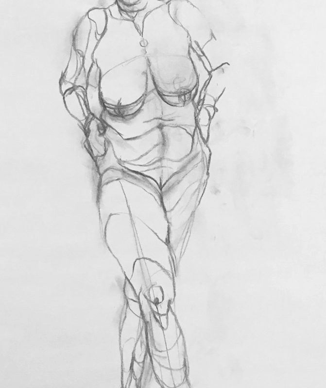 Amy Hollshwandner, gesture drawing