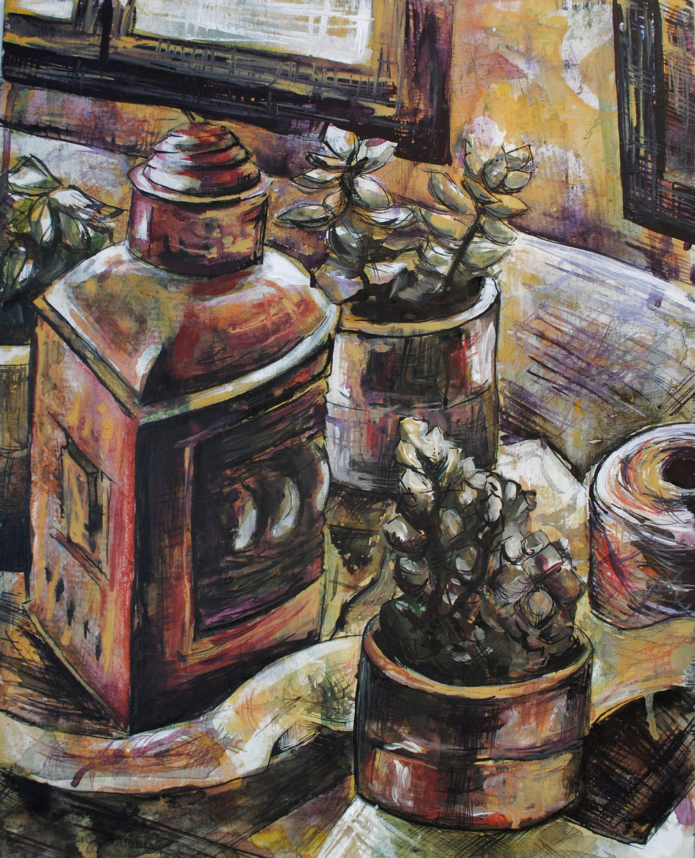 Mixed Media Still Life, Monika Hedman