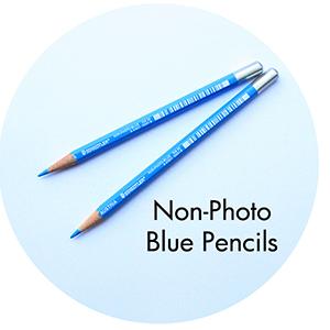 Art Supplies: Non-Photo Blue Pencils