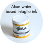 Art Supplies: Akua water based Intaglio Ink