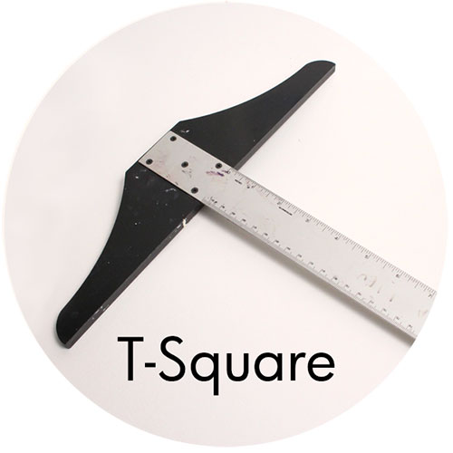 Art Supplies: T-square