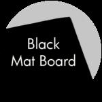 Art Supplies: Black Mat Board