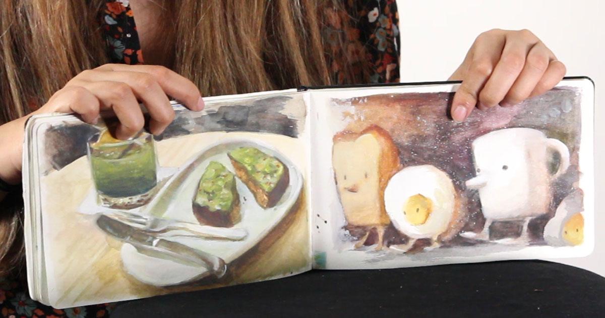 2017 Sept Art Dare: Sketchbook Spreads
