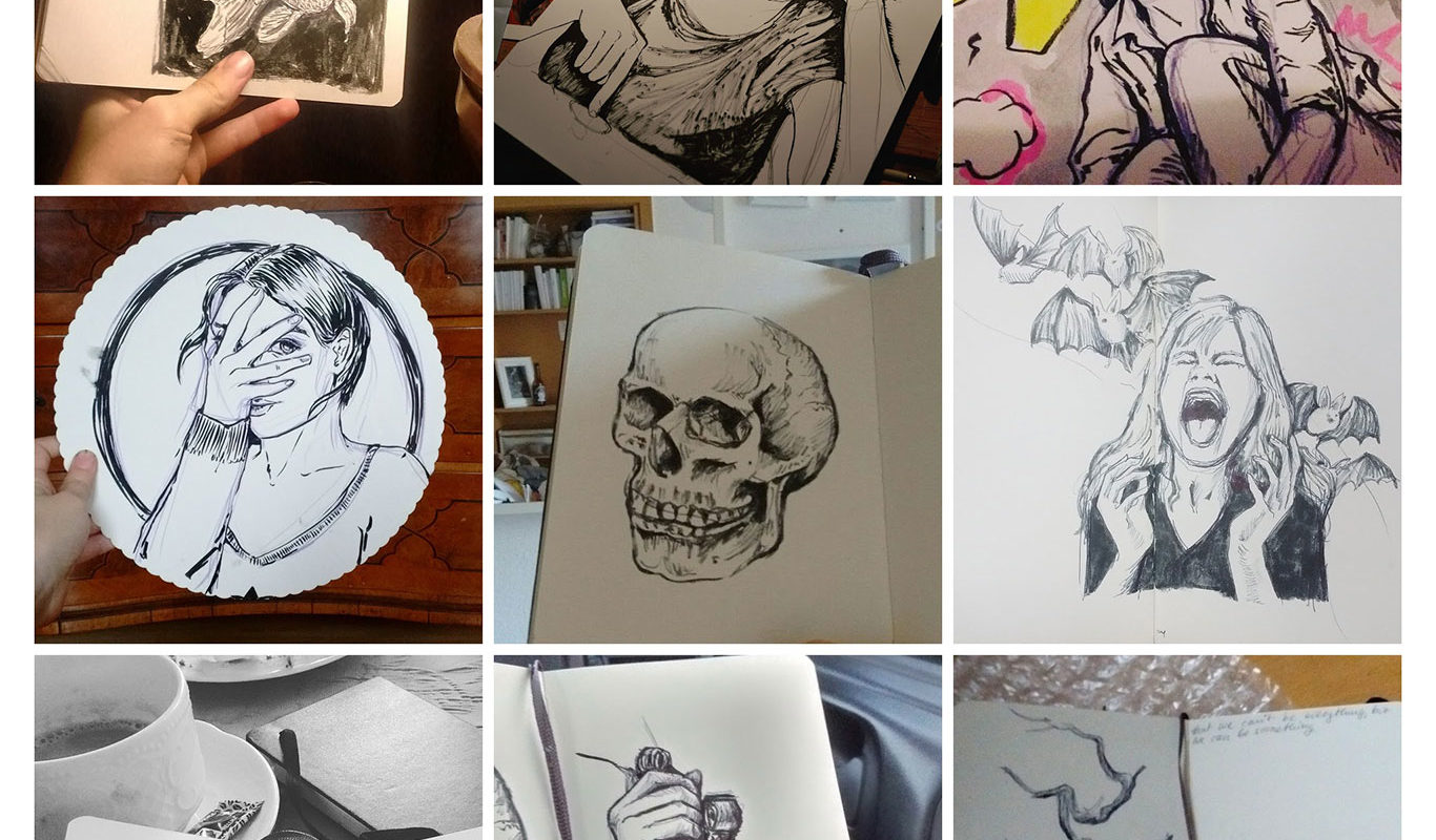 Inktober Drawings, Tabea Reif