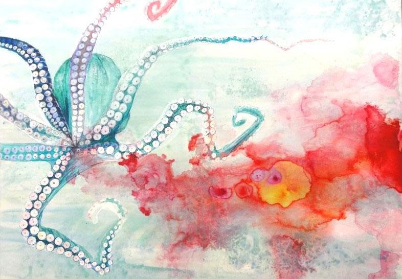 Amy Hollshwandner, watercolor painting