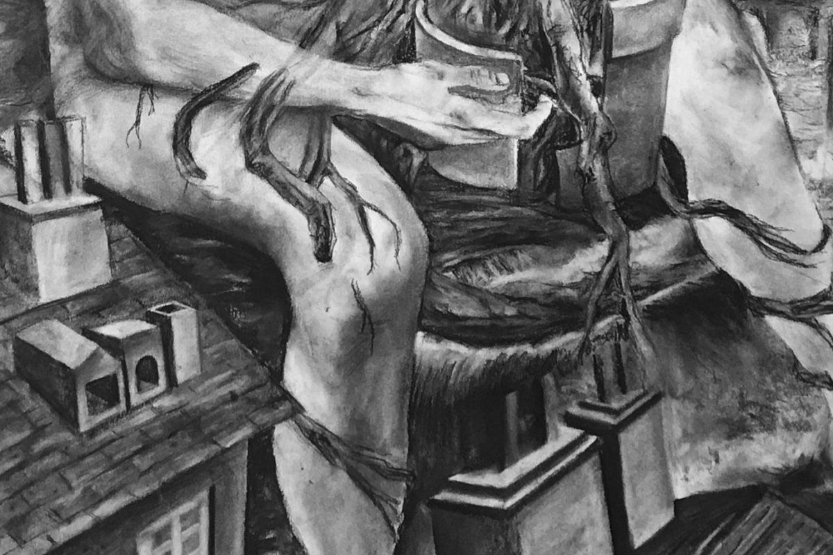 Charcoal Drawing, Jieru Lin