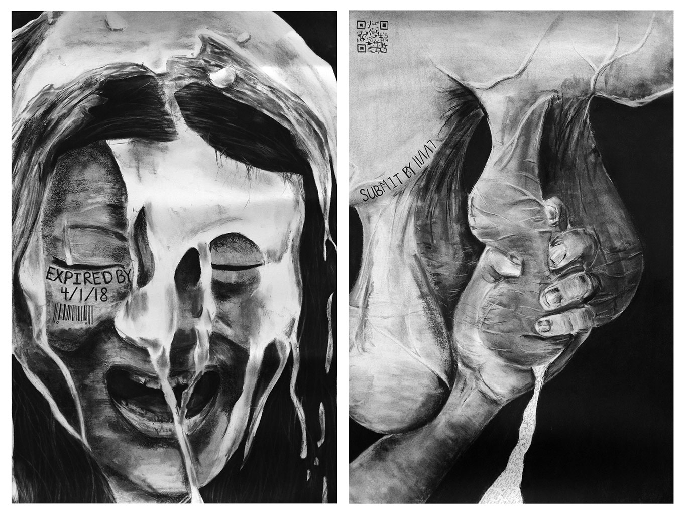 Charcoal Drawing, Claire Zhang