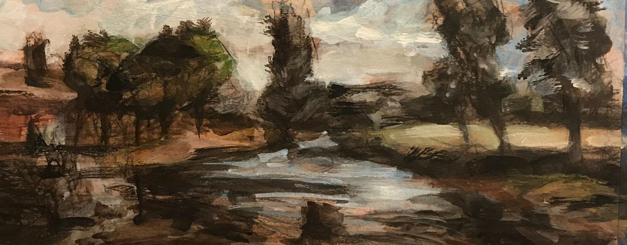 Landscape Painting, Claire Zhang