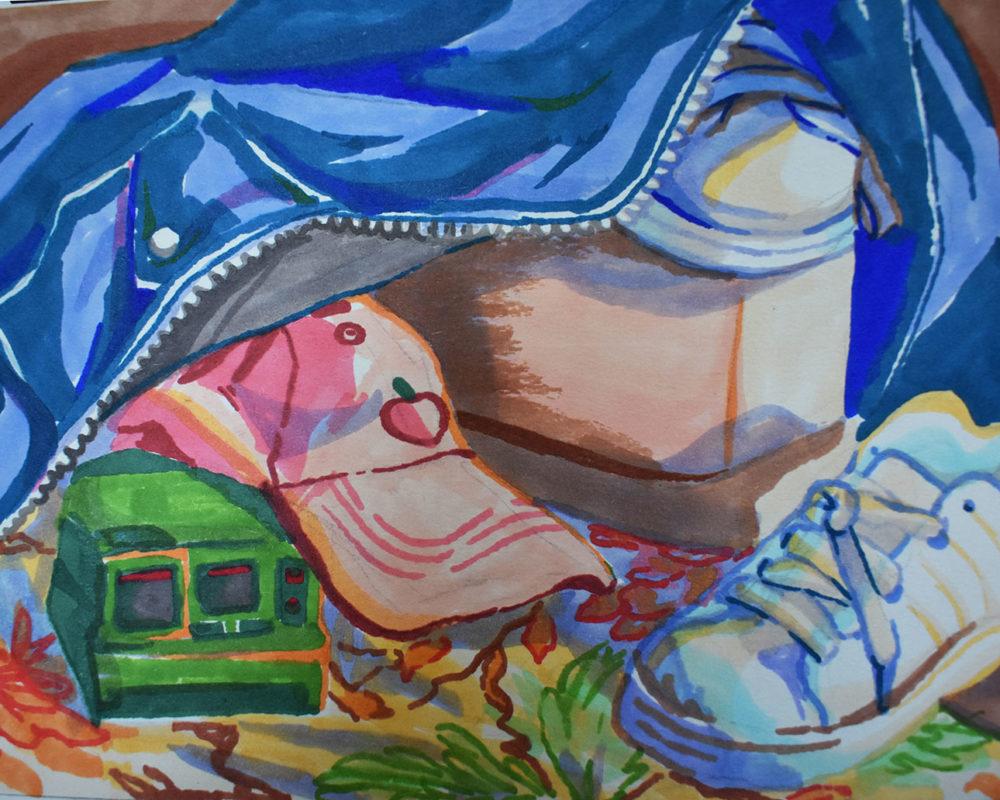 Still Life Marker Drawing, Britt Sodersjerna