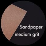 Art Supplies: Sandpaper, medium grit