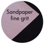 Art Supplies: Sandpaper, fine grit