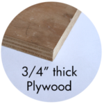 "Art Supplies: 3/4"" thick Plywood"