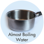 Art Supplies: Almost Boiling Water