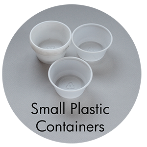 Art Supplies: Small Plastic Containers