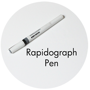 Art Supplies: Rapidograph Pen