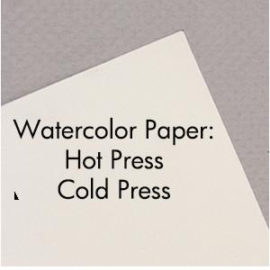 Art Supplies: Hot Press / Cold Press Watercolor Paper