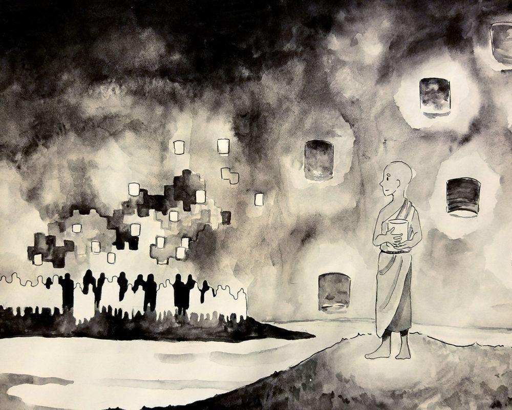 Sofie Levin, Historical Illustration: Singapore Lantern Festival