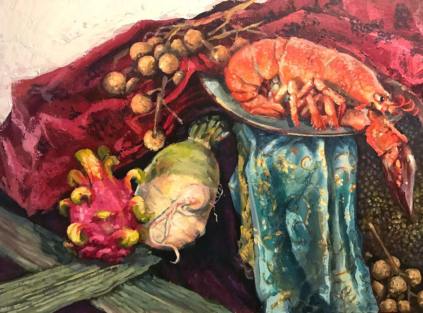 Acrylic Still Life Painting, Alex Rowe