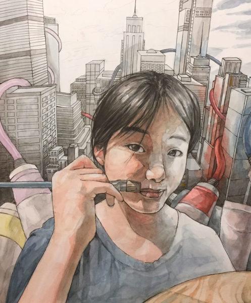 Watercolor Painting, Christina Wu