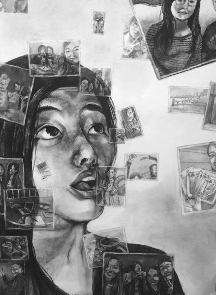 Charcoal Drawing, Christina Wu