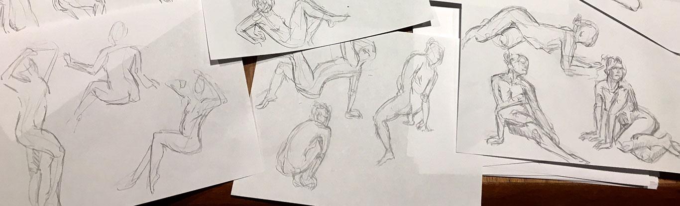 Figure Drawings, Cindy Qiao
