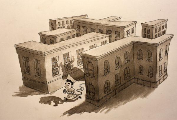 Ink Wash Illustration, Alex Rowe