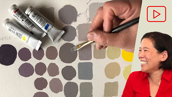 Complementary Color Chart in Gouache