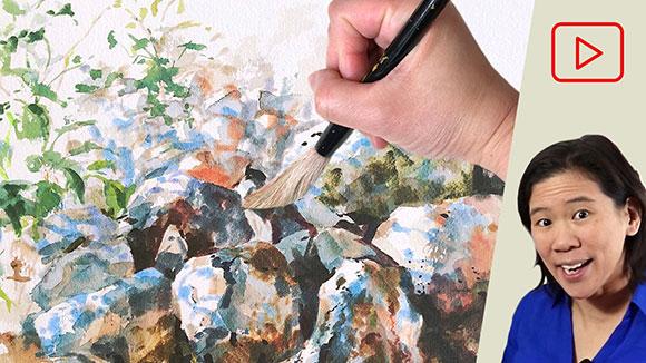 Landscape Watercolor Painting in Utah 1