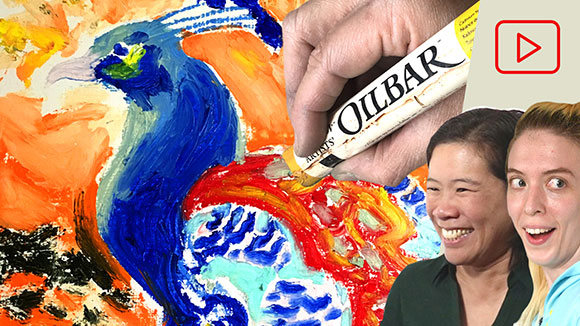 Drawing with Oil Bars and Oil Pastel